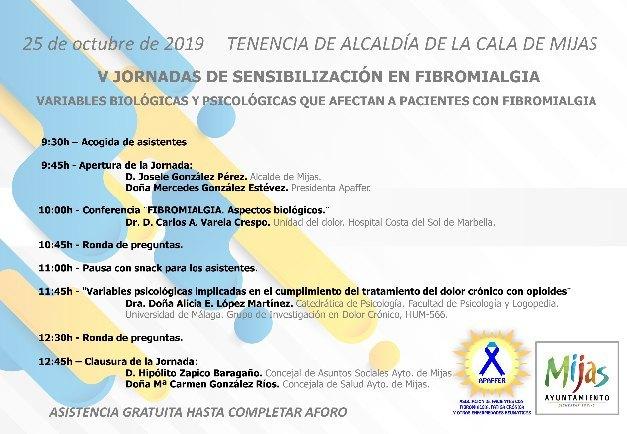 Lee más sobre el artículo 25 OCT 2019- Vª JORNADA DE SENSIBILIZACIÓN EN FIBROMIALGIA