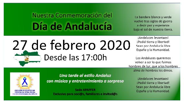 Lee más sobre el artículo 27 FEB 2020 – CELEBRANDO EL DIA DE ANDALUCIA